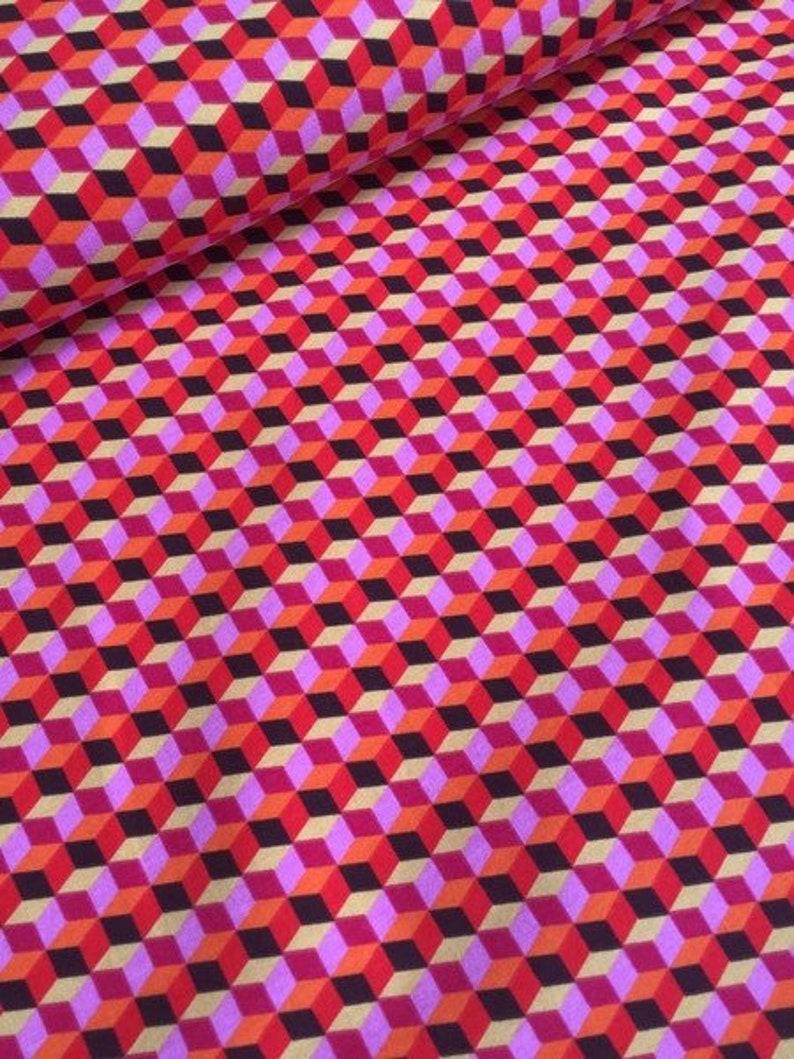 JERSEY Hula Square Hamburger Love Brown 10 cm image 0