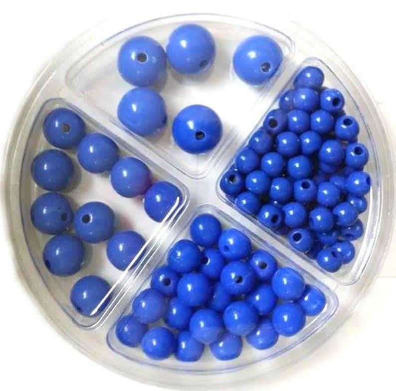 RICO Plastic Bead Set 97-piece Blue image 0
