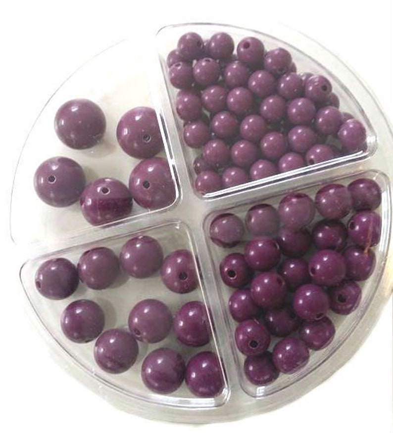 RICO Plastic Bead Set 97-piece Berry image 0
