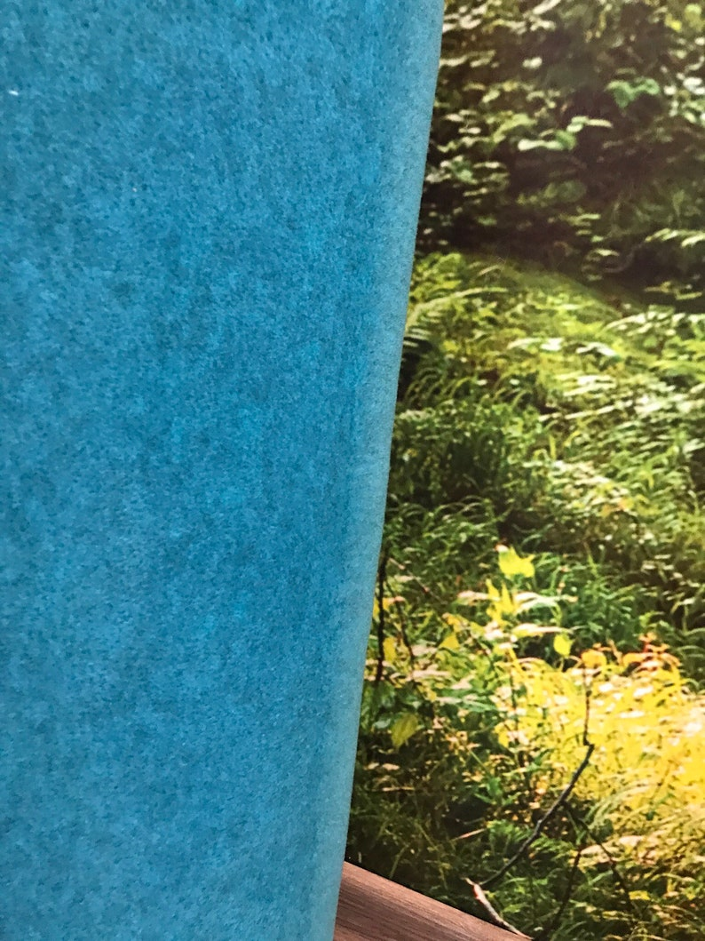 Fleece 10 cm x 150 cm turquoise blue image 0