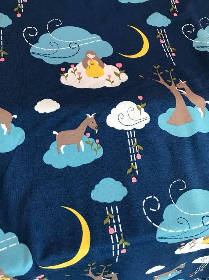 Cloud fairy jersey purple price 10 cm x 150 cm blue image 0