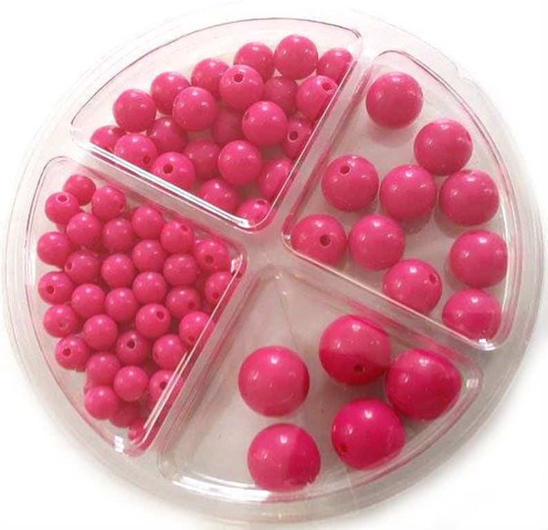 RICO Plastic Bead Set 97-piece Pink image 0