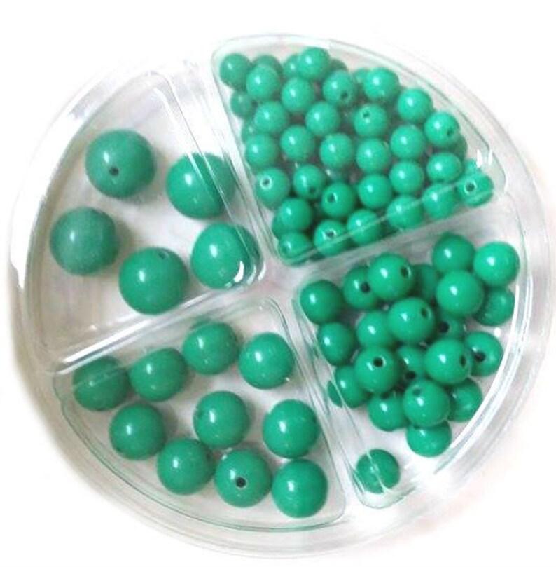 RICO Plastic Bead Set 97-piece Green image 0