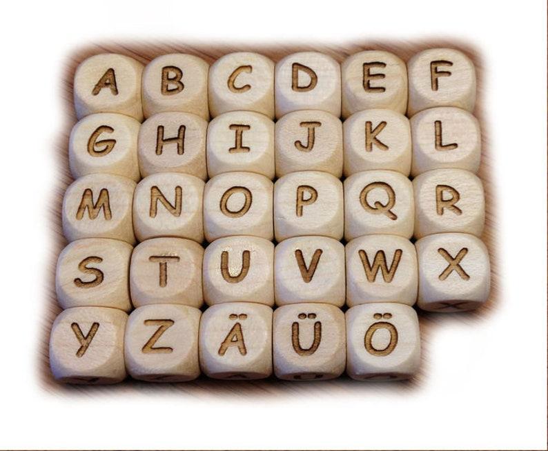 1 letter cube unvarnidednature premium AUSW image 0