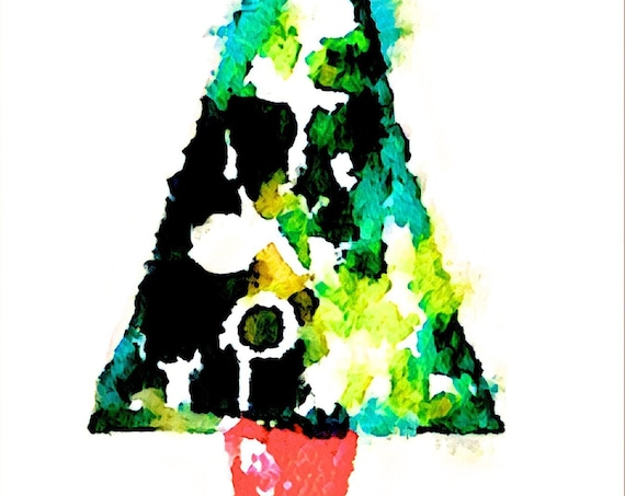NEW*** Christmas Trees - Large Fine Art Stickers