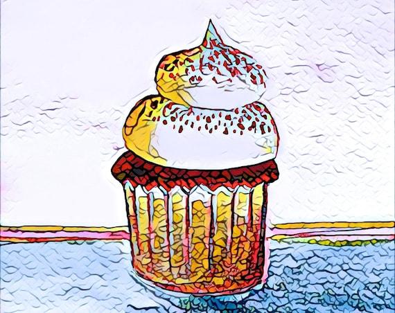 Journal Cards / Tip Ins - Cupcake / Baking