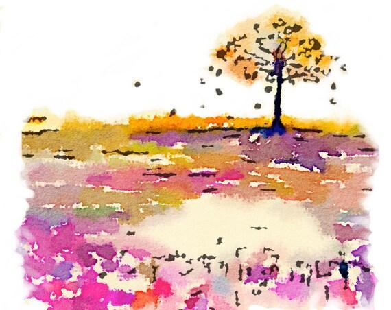 Tomoe River Insert - Tree 3 - Travelers Notebook Insert