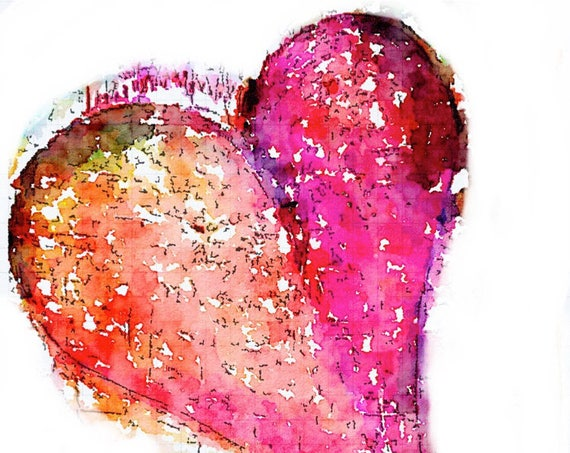 Tomoe River Insert - Pink Heart - Travelers Notebook Insert