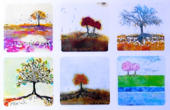 Mini Trees 4 - Fine Art Stickers