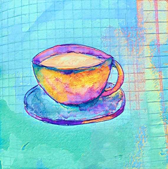 ROUND Fine Art Stickers - Fancy A Cuppa?