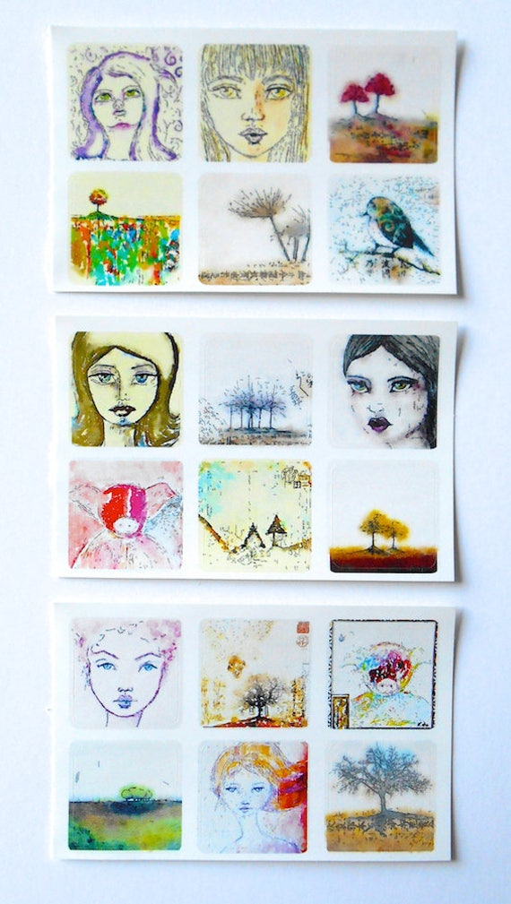 Mixed Minis 2 - Fine Art Stickers