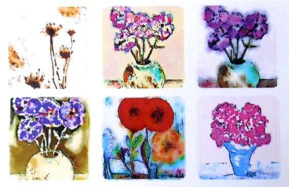 Mini Flowers 2 - Fine Art Stickers