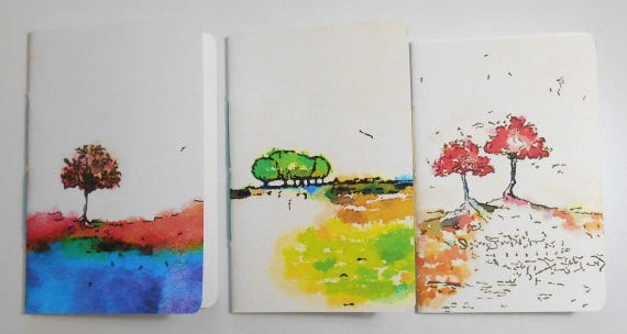 ME BOOK - Trees 2 - 3 Tomoe River Paper Field Notes Inserts