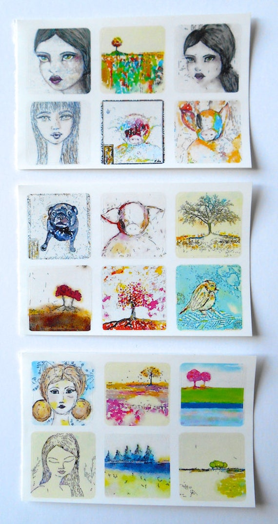 NEW ** Mixed Minis 1 - Fine Art Stickers