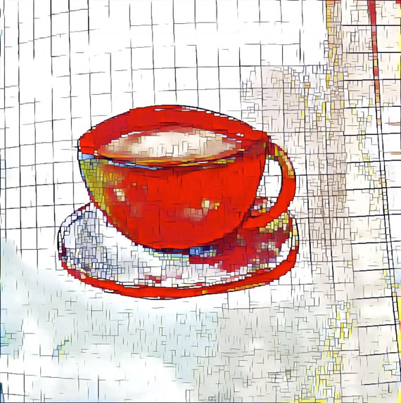 NEW *** Fancy A Cuppa? - ROUND Fine Art Stickers