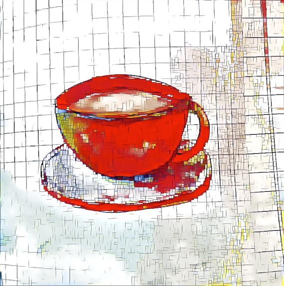 NEW *** Fancy A Cuppa? - ROUND Fine Art Stickers