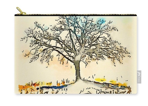 Zippered Pouch - Tree of Life 1