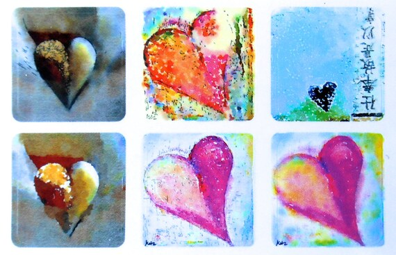 Mini Hearts - Fine Art Stickers
