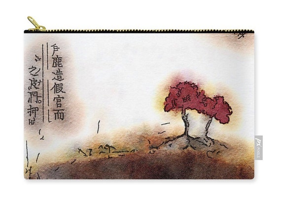 Zippered Pouch - Cherry Blossom