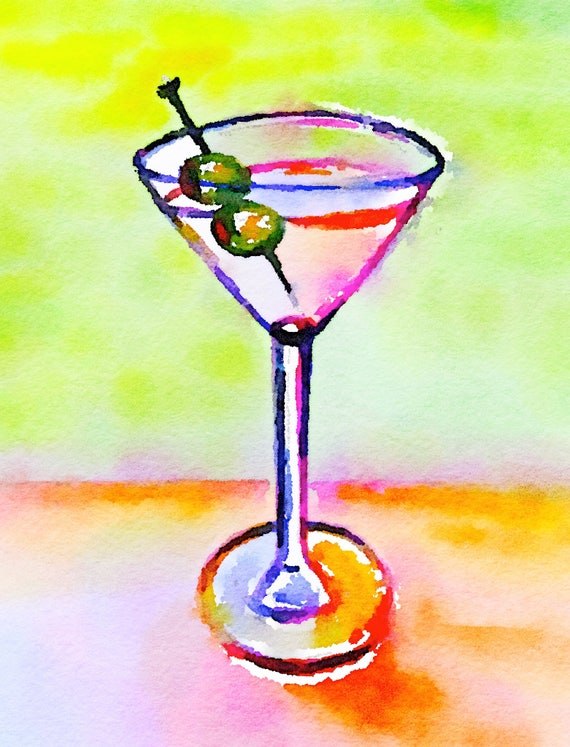 NEW ***** Journal Cards / Tip Ins - Martini / Drinks