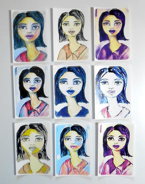 Cecile - Large Fine Art Stickers