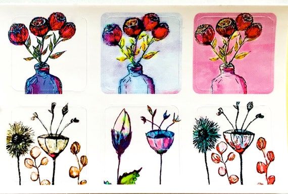 Fine Art Stickers - Flowers & Fauna MINI's