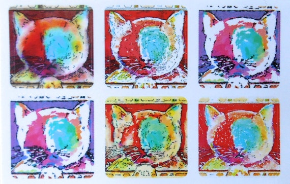 Mini Cats and Dogs - Fine Art Stickers