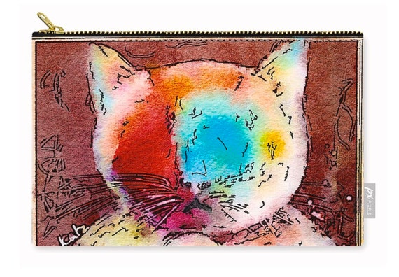 Zippered Pouch - Puddy Cat 1