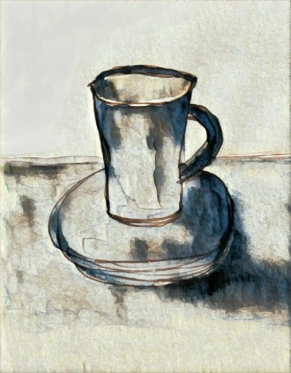 NEW*** Cup of Joe - Dark Roast - Large Fine Art Stickers