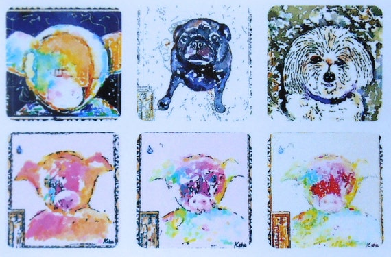 Mini Animals - Fine Art Stickers