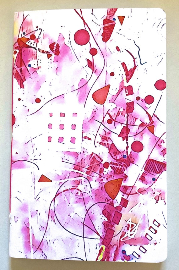 Tomoe River Paper Travelers Notebook Insert - Pink Abstract Wrap