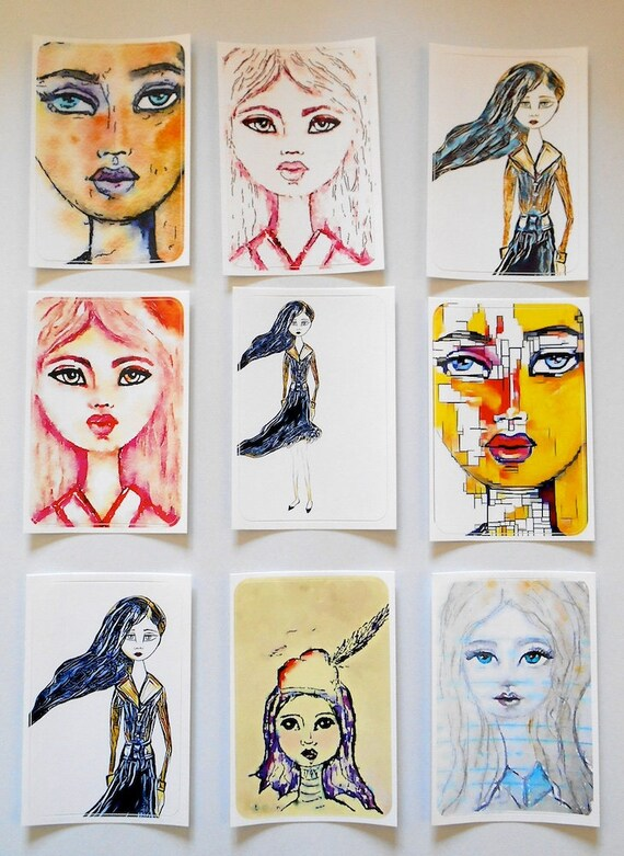 Girls Mixed 2 - Large Fine Art Stickers