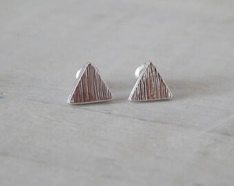 Boucles d'oreilles Triangle plaqué argent