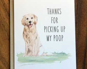 a51c947557d1f Mother s Day Card Golden Retriever Dog Funny Poop Greeting Card Gift
