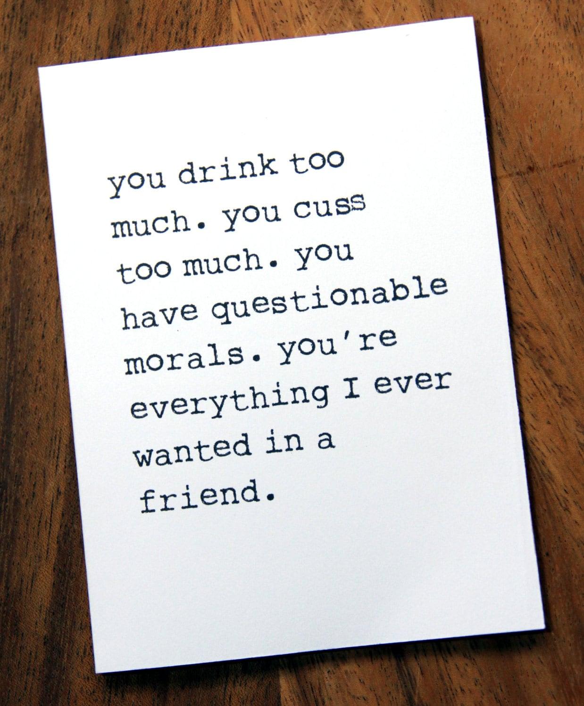 Happy Birthday Card Best Friend Funny Etsy