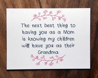 Happy Mother's Day Card. Mom Grandma.