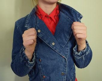 330693f35aa Blue Jean Vintage Jacket 80 s S LATITUDES Jacket