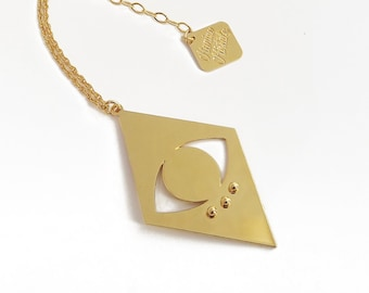 Supernova fine gold plated necklace