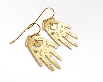 Luckyhand fine gold plated brass earrings