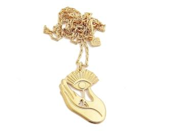 24-carat gold gold gold Amulet necklace original Marine Mistake creation made in France
