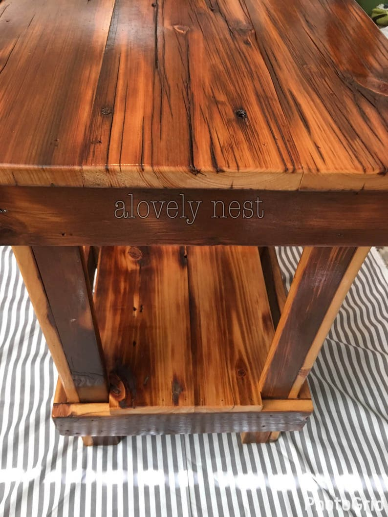 Stupendous Cedar Table End Tables Reclaimed Night Stand Farm Rustic Table Download Free Architecture Designs Scobabritishbridgeorg