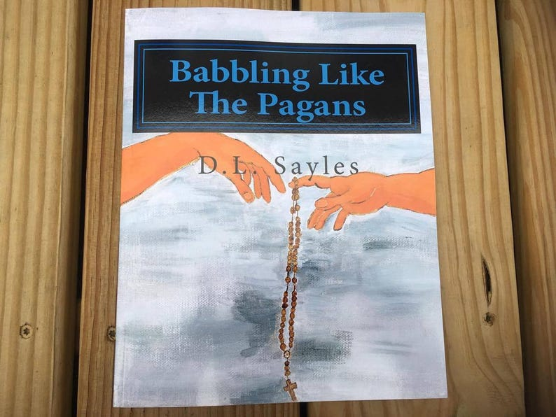 Babbling Like the Pagans Humorous Book on the Rosary Mysteries image 0