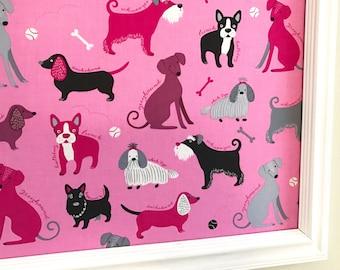 Dogs Pin Board Cork Board Jewelry Board