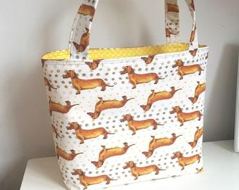 Dachshunds Tote Bag Gift Bag Market Bag Craft Project Bag