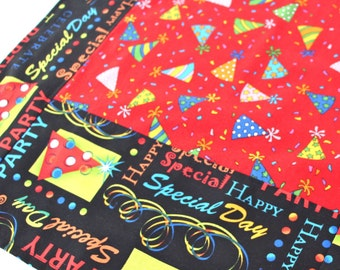 Happy Birthday Red Hats Table Runner