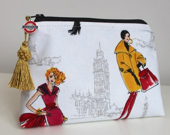 London Gift Card Bag Jewelry Pouch Makeup Organizer