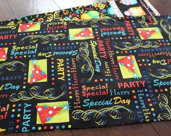 Happy Birthday Party Table Runner