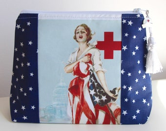 Nurse Cosmetic Bag Organizer Makeup Bag