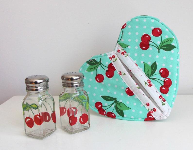 Cherries Salt and Pepper Shakers Boho Style Salt and Pepper Shakers Free Shipping