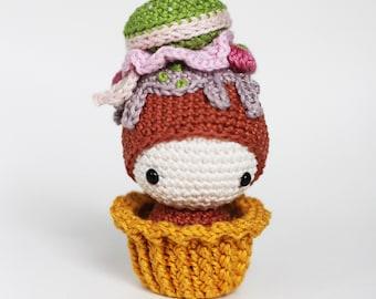 Macaron Ella Pincushion crocheted